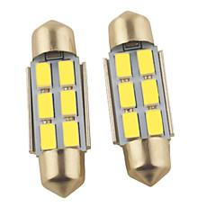 billige Interiørlamper til bil-2pcs 36mm Bil Elpærer 1.2W SMD 5630 6