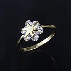 お買い得  指輪-指輪 男性用 キュービックジルコニア 真鍮 真鍮 画像参照 装飾物のカラーは画像をご参照ください.
