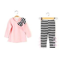 billige Tøjsæt til piger-Baby Pige Stribet Stribet Langærmet Kort Tøjsæt
