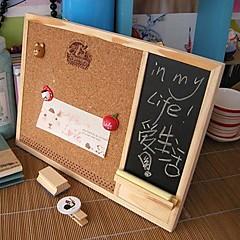 Wooden Framed Cork Pin Notice Memo Board 28cm*22cm For Office Home Kitchen
