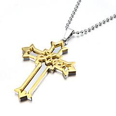 voordelige -Hangertjes ketting - Kruis Gouden Kettingen Voor Kerstcadeaus, Feest, Sport