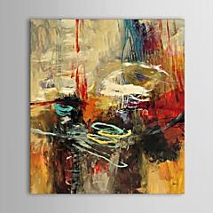 Kézzel festett Absztrakt Függőleges,Klasszikus Tradicionális Egy elem Hang festett olajfestmény For lakberendezési