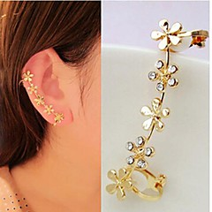 Ear Cuffs biżuteria kostiumowa Kamienie zodiakalne luksusowa biżuteria Kryształ górski Imitacja diamentu Stop Flower Shape Biżuteria Na