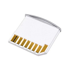 Mikro-Sd TF auf SD-Karte Kit Mini-Adapter für zusätzlichen Speicherplatz MacBook Air / Pro / Retina weiß