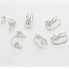 Kolczyki koła Ear Cuffs biżuteria kostiumowa Kryształ górski Stop Circle Shape Biżuteria Na Ślub Impreza Codzienny Casual