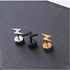 Недорогие -Серьги-гвоздики Первоначальные ювелирные изделия бижутерия Титановая сталь Бижутерия Назначение Свадьба Для вечеринок Повседневные