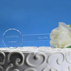 billige Kakedekorasjoner-kake toppers personlig kake topper gjennomsiktig krystall nøkkel keepsaketransparent krystall nøkkel kake topper