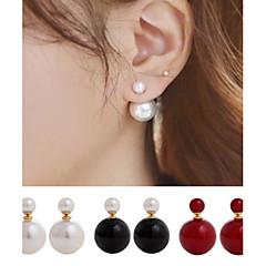 Női Beszúrós fülbevalók Elöl is és hátul is stílusos fülbevalók jelmez ékszerek Kétoldalú minimalista stílusú Gyöngy Gyöngyutánzat Ötvözet