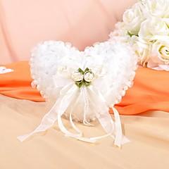 lindas flores e decoração pérola suave cetim anel de casamento travesseiro
