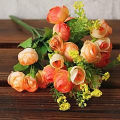 billige Kunstige blomster-Kunstige blomster 1 Gren Enkel Stil Camellia Bordblomst