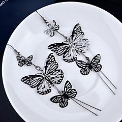Pisarakorvakorut Monitaso Gold Plated Metalliseos Animal Shape Butterfly Kulta Musta Hopea Korut Varten 2pcs