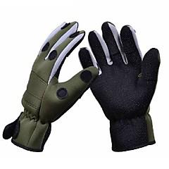 Χαμηλού Κόστους -Γάντια Γάντια Ψαρέματος Ολόκληρο το Δάχτυλο Αδιάβροχη Αντιανεμικό Αναπνέει Ύφασμα Πολυεστέρας Χειμώνας Γιούνισεξ / Αντιολισθητικό