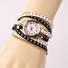 cheap Watches-Women's Children's Fashion Watch Chinese Tile Other Band Bracelet Watch Black White
