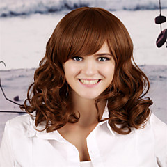 cheap Wigs & Hair Pieces-Synthetic Wig Women's Curly / Kinky Curly / Loose Wave Dark Brown Layered Haircut Synthetic Hair 18 inch Natural Hairline Dark Brown Wig Long Capless Light Brown m230