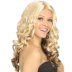 cheap Wigs & Hair Pieces-Synthetic Wig Curly Synthetic Hair Wig Capless Blonde L16-613 Bleach Blonde