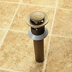 Accessorio rubinetto - Qualità superiore - Vintage Ottone Scarico dell'acqua a scomparsa senza troppopieno - finire - Ottone antico