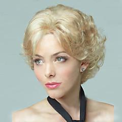 tanie Peruki syntetyczne-Kobieta Peruki syntetyczne Krótki Light golden Halloween Wig Karnawałowa Wig Costume Peruki