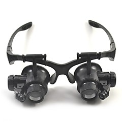 cheap Toys & Games-Binoculars Magnifiers/Magnifier Glasses High Definition Headset/Eyewear Generic 10X / 15X / 20X / 25X 15mm Plastic