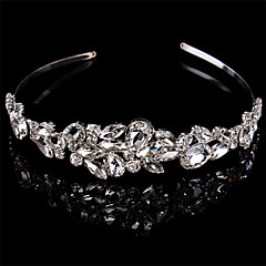 Women Sterling Silver/Crystal Headbands With Wedding/Party Headpiece