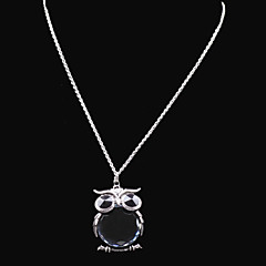 cheap Necklaces-Women's Rhinestone Y-Necklace Lockets Necklace - Fashion Owl Flower Necklace For Wedding Party Party / Evening Daily Casual