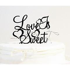 Figurky na svatební dort Nepřizpůsobeno Akryl Výročí / Párty pro nevěstu / Svatba Černá Zahradní motiv 1 OPP