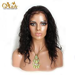 """levne Paruky z přírodních vlasů-8 """"-26"""" indická panna vlasy přírodní vlna Glueless plné krajky paruka černá barva s baby vlasy pro černé ženy"""