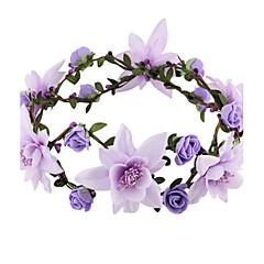 billige Hår Smykker-Dame Elegant Hårbånd - Stof Blomst
