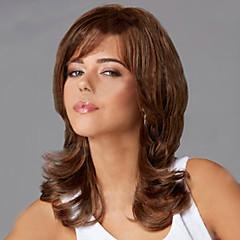 tanie Peruki syntetyczne-Kobieta Peruki syntetyczne Medium Dark Brown Halloween Wig Karnawałowa Wig Costume Peruki