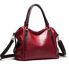 Χαμηλού Κόστους Bags on sale-Γυναικείο PU Επίσημη / Καθημερινή / Γραφείο & Καριέρα / Ψώνια Τσάντα ώμου / Τσάντα tote Μπλε / Καφέ / Κόκκινο / Μαύρο / Μπορντώ