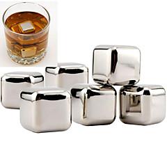 billiga Bartillbehör-10st rostfritt stål whisky stenar rock is kub drinkar frys viner verktyg