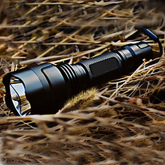 cheap Camping, Hiking & Backpacking-LED Flashlights / Torch LED Cree® XR-E Q5 1 Emitters 200 lm 5 Mode with Battery and Charger Tactical, Rechargeable Camping / Hiking / Caving Black