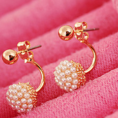 cheap -Women's Pearl Imitation Pearl Stud Earrings - Bridal Fashion Ball For Wedding Party Daily