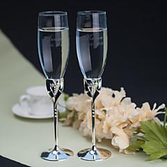 Blyfrit Glas Riste Flutes 2 Personaliseret Gaveæske