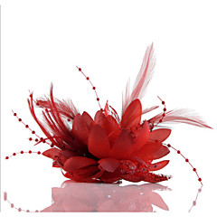 Feather Flower Fascinators for Wedding/Party Headpiece Elegant Style