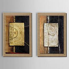billige Innrammet kunst-Hang malte oljemaleri Håndmalte - Abstrakt Klassisk Lerret
