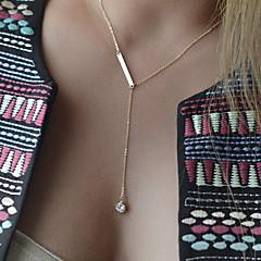 נשים שרשראות Layered קריסטל טיפה אבני חן סינתטיות סגסוגת אופנתי סגנון מינימליסטי תכשיטים עבור אירוע מיוחד יום הולדת