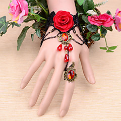 cheap Bracelets-Women's Ruby Chain Alloy Jewelry Wedding Special Occasion Engagement Costume Jewelry