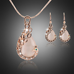 Women's Jewelry Set Drop Earrings Pendant Necklaces Unique Design Vintage Party Work Casual Elegant Bridal Wedding Party Anniversary Daily