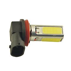 carking ™ h8 / H11 15w 3 * cob ledet 600ml hvitt lys tåkelys lampe (DC 12V)