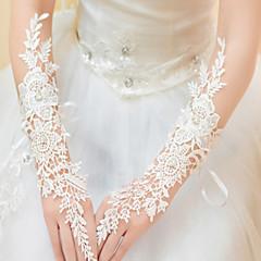 Kant Ellebooglengte Handschoen Bruidshandschoenen Feest/uitgaanshandschoenen