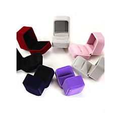 cheap Jewelry Boxes-6*5*4CM Flannel /Earrings/Ring/ Jewelry Boxes 1pc Elegant Style