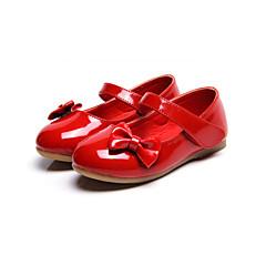 levne Svatební boty-Dívčí Boty Koženka Jaro léto Pohodlné Bez podpatku Mašle / Kouzelná páska pro Bílá / Červená / Růžová