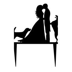 Figurky na svatební dort Nepřizpůsobeno Akryl Svatba / Výročí / Párty pro nevěstu Černá Zahradní motiv / Klasický motiv 1 OPP