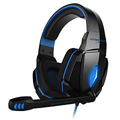 billiga Headsets och hörlurar-KOTION EACH Över örat / Headband Kabel Hörlurar Plast Spel Hörlur Med volymkontroll / mikrofon / Ljudisolerande headset