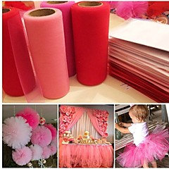 Tulle Roll Spool 6inchx25yd Tutu DIY Wedding Gift Bow Desk Dress & Flower Ball& Chair Sash