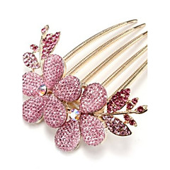 cheap Hair Jewelry-Korean Style Flower Alloy Comb(4 color)(1Pc)