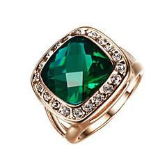 billige Motering-Dame Statement Ring / Løftering - Legering Mote 7 / 8 / 9 Mørkegrønn Til Bryllup / Fest / Engasjement / Krystall / Kubisk Zirkonium