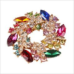 missing u diamant forgylt juveler& krystall zirkonia fargerik brosje