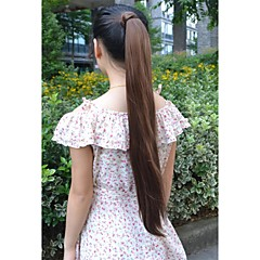 cheap Wigs & Hair Pieces-long straight volume up pongtail extension japan high temperature synthetic fiber hair extension