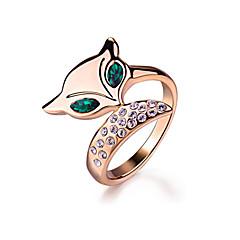 Sormukset jäljitelmä Emerald Muoti Party Korut Metalliseos Naisten Tyylikkäät sormukset 1kpl,Yksi koko Ruusukulta